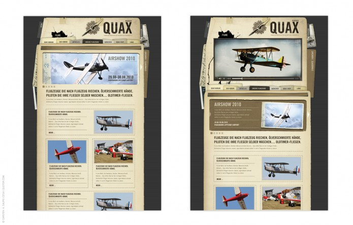 Quax-Flieger-Verein-Homepage-©-Carsten-A-Saupe-Quotor-Design