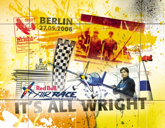 Grossartiges Gastgeschenk RedBull Air Race Kunst_Grafik-Artwork_Red_Bull_Air_Race_Bros_Wright_Pilot_Chembliss-©_Artwork_Carsten_A_Saupe-CeSa-Creative_Director_in_Berlin-Quotor_Design