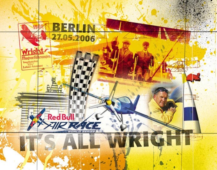 Grossartiges Gastgeschenk RedBull Air Race Kunst_Grafik-Artwork_Red_Bull_Air_Race_Bros_Wright_Pilot_Lamp-©_Artwork_Carsten_A_Saupe-CeSa-Creative_Director_in_Berlin-Quotor_Design