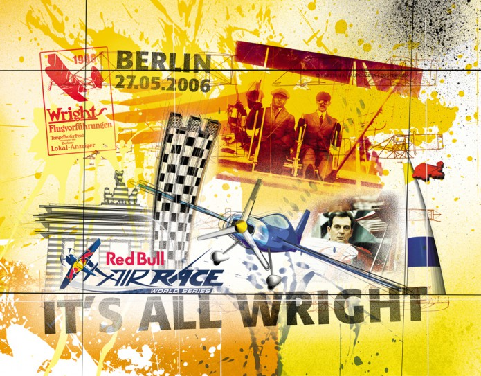 Grossartiges Gastgeschenk RedBull Air Race Kunst_Grafik-Artwork_Red_Bull_Air_Race_Bros_Wright_Pilot_Mangold-©_Artwork_Carsten_A_Saupe-CeSa-Creative_Director_in_Berlin-Quotor_Design