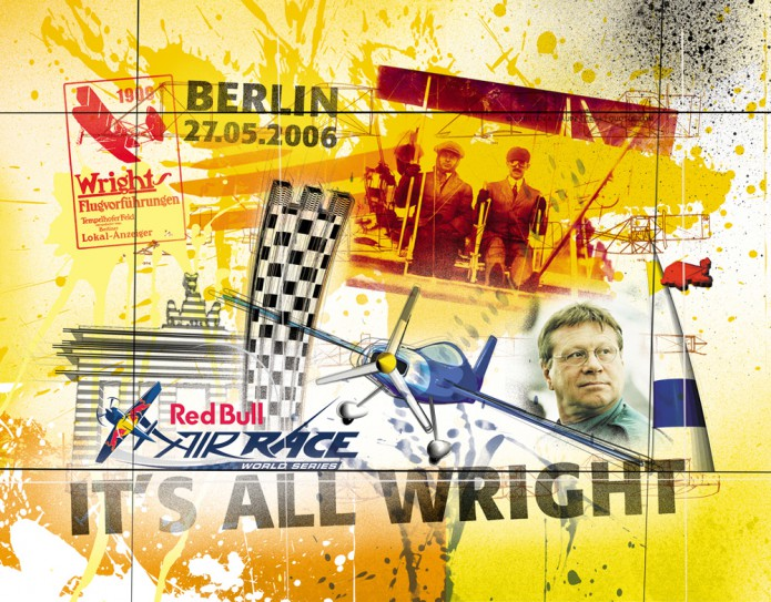 Grossartiges Gastgeschenk RedBull Air Race Kunst_Grafik-Artwork_Red_Bull_Air_Race_Bros_Wright_Pilot_Schrodt-©_Artwork_Carsten_A_Saupe-CeSa-Creative_Director_in_Berlin-Quotor_Design