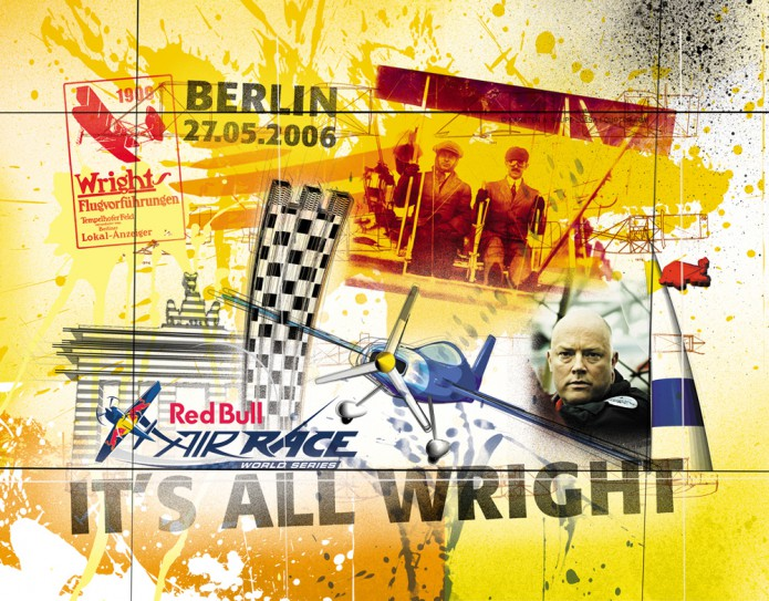 Grossartiges Gastgeschenk RedBull Air Race Kunst_Grafik-Artwork_Red_Bull_Air_Race_Bros_Wright_Pilot_Versteegh-©_Artwork_Carsten_A_Saupe-CeSa-Creative_Director_in_Berlin-Quotor_Design