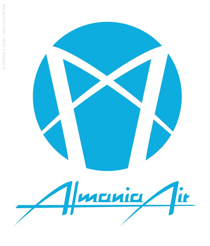 Logo Design Auswahl Logo_Almania_Air-©-Carsten_A_Saupe-CeSa-Quotor-Design
