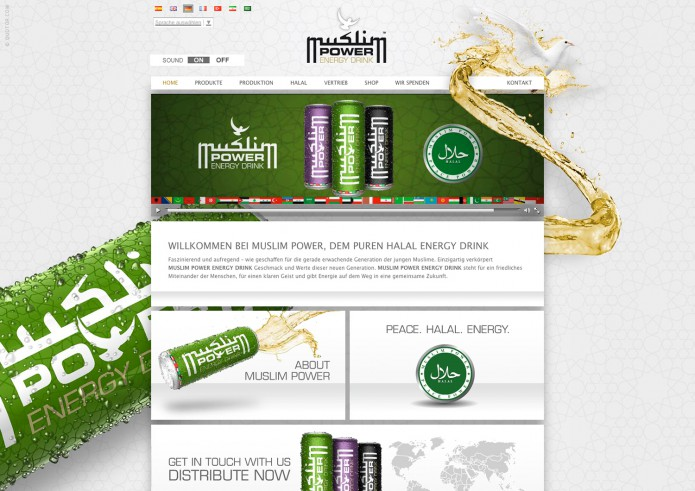 Halal Drink Markenauftritt Muslim-Power-Energy-Homepage-1